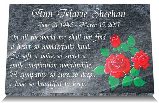 Mothering Sunday Grave Plaque with Mom's Day Memorial Quotes