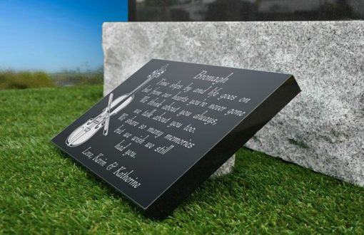 Violinist's Grave Ornaments with musicians remembrance poem