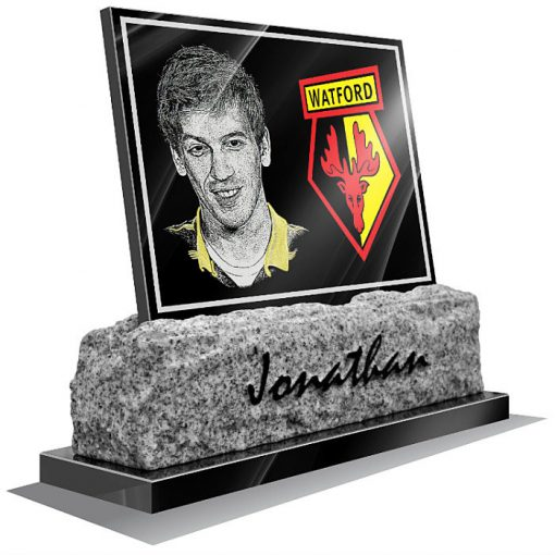 Watford FC Memorial plaque for grave