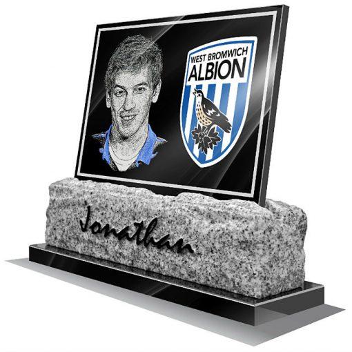 West Bromwich Albion FC Memorial plaque for grave