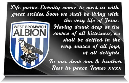 West Bromwich Albion FC Memorial Plaque