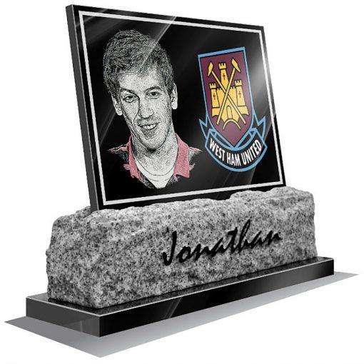 West Ham United FC Memorial plaque for grave