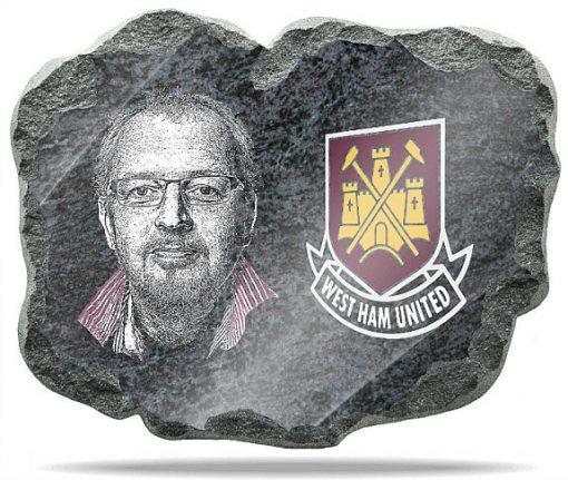West Ham United FC wall memorial plaque