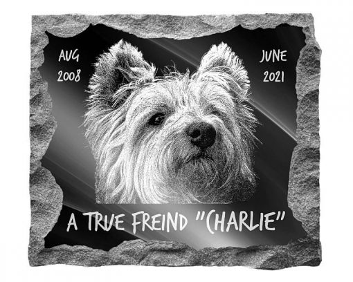 West Highland Terrier Dog pet Memorial plaque
