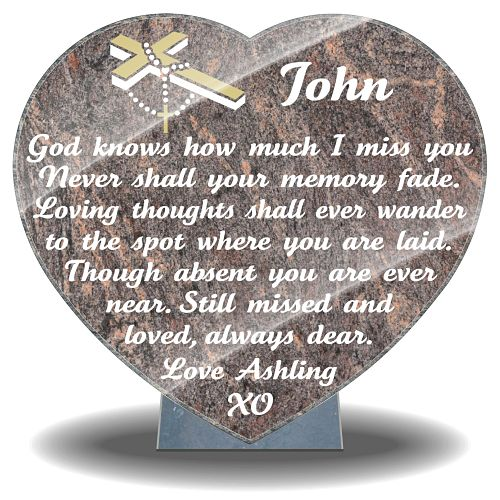 Dowager Memorial Plaque with personalized memorial verse