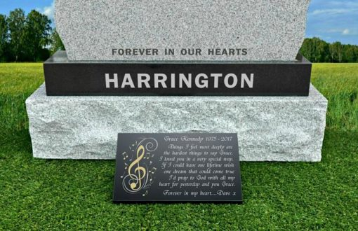 Gravestone graveside gifts for a wife or husband
