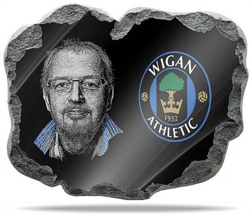 Wigan Athletic wall memorial Plaque