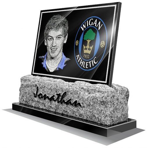 Wigan Athletic FC Memorial plaque for grave