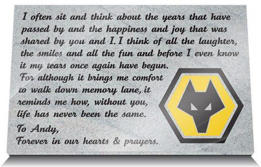 Wolves FC Memorial Plaques