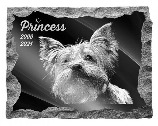 Yorkshire Terrier Dog pet Memorial plaque