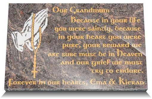 Catholic grave markers for grandmother or mother