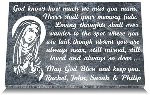Catholic grave markers for mothers