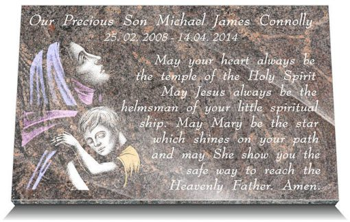 catholic memorial plaques for infants