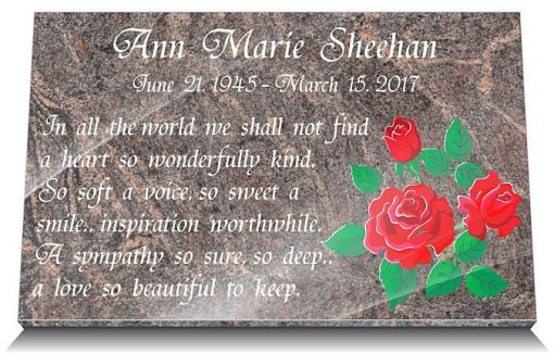 Mum's Day Grave decorations with Mom's Day Memorial Quotes and Roses