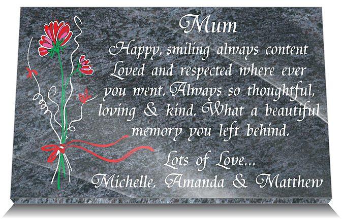 Memorial Gifts Loss Mum Mother Uk Personalized Unique Grave Memorials
