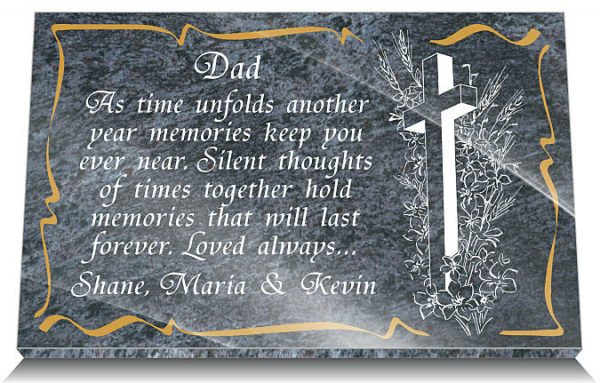 memorial plaques father