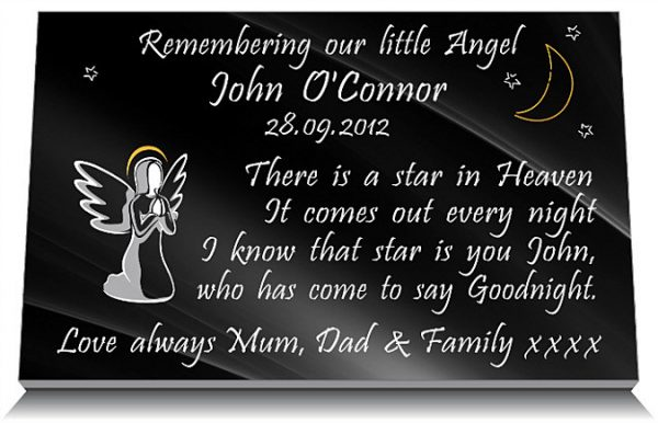 Baby Angel Plaques made from granite