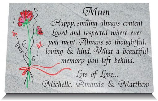 Personalized memorial gifts for loss of mother