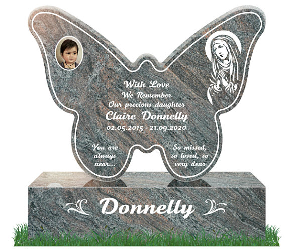 Butterfly Headstones Granite
