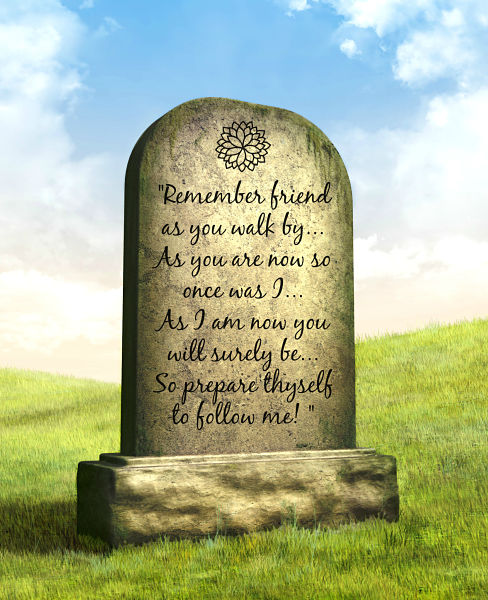 Memorial Verse epitaphs for headstones