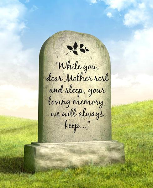 Memorial poem for mother epitaphs