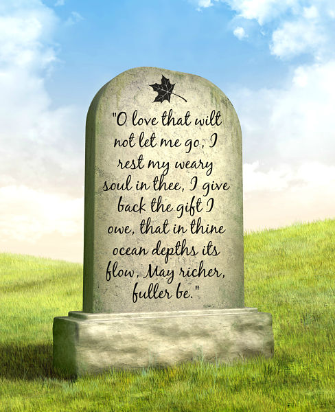 Epitaphs with poems about death