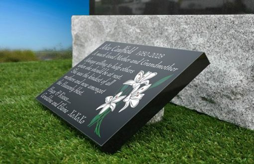 Memorial Gifts with Lilies and personalized memorial verse