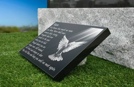 Dove Memorial Ornaments for Graves with the Holy Spirit Image and Funeral Poem
