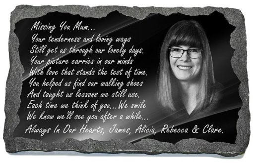 Personalized Photo plaque for headstone with lifetime guarantee
