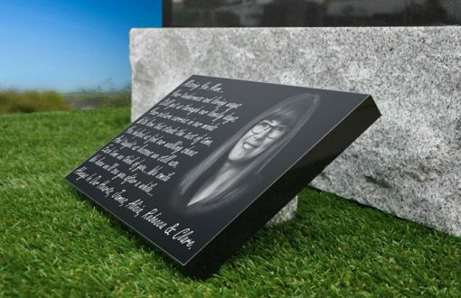 Mother Picture Grave Plaques with personalized memorial poem
