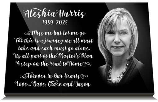 Headstone Photo Plaque with Laser etched picture UK