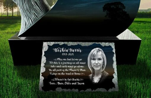 Quality engraved Gravestone Picture Plaques with photograph and personal wording