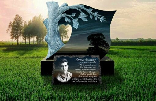 Memorial Picture Plaques for Gravestones made from Granite for outdoors