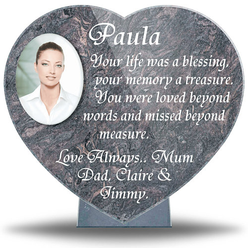 Ceramic Photo Plaque for Headstone made from Granite for outdoors