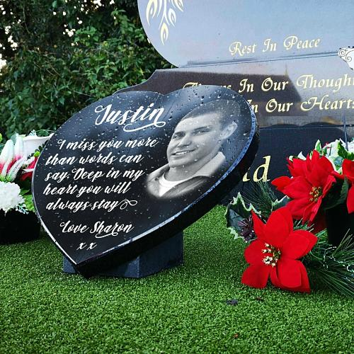 laser etching granite memorials for headstones with funeral poem for brother