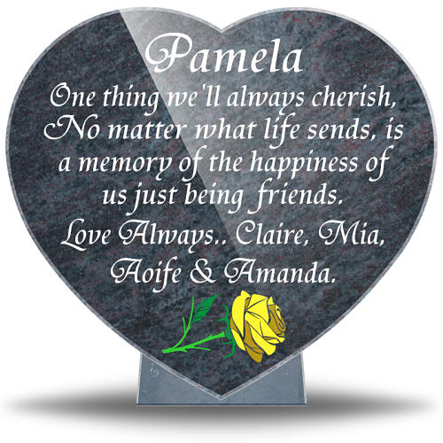 Personalized best friend plaque with friendship memorial quotes