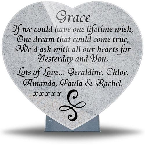 Companionship heart plaque with best friend memorial poems
