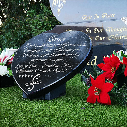 Angelic Friendship Symbol for friends gravestone