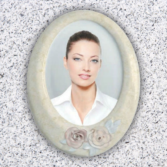 Cameo Pictures for Tombstones with Roses