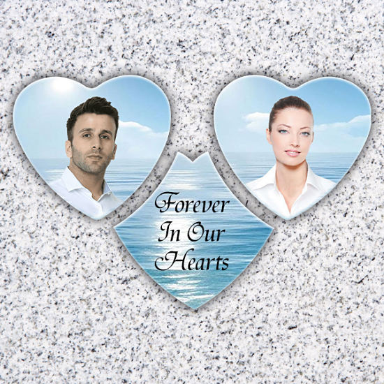 Heart Shaped Tombstone photo plaques