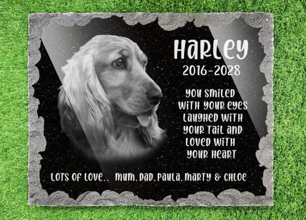 Cocker Spaniel dog memorials for garden
