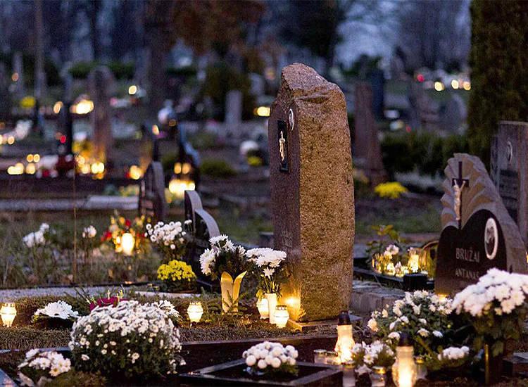 Battery or Solar powered grave lanterns