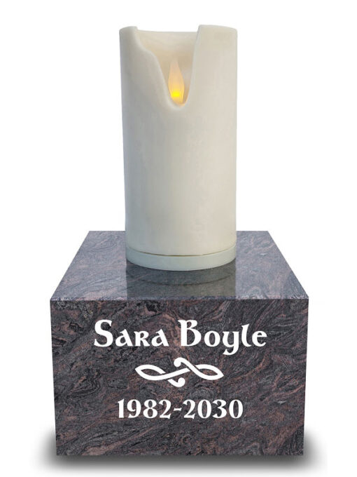 Grave Candles with flameless taper light