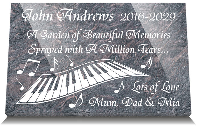 Short Remembrance Poems for a son with Music Image