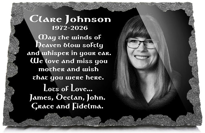 Remembrance Poems for a wife or husband with photo engraved on granite grave plaque