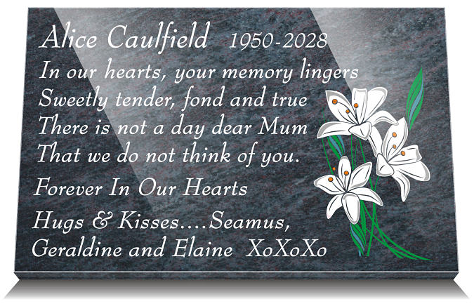 Short Memorial Poems and Verses for Grave Plaques