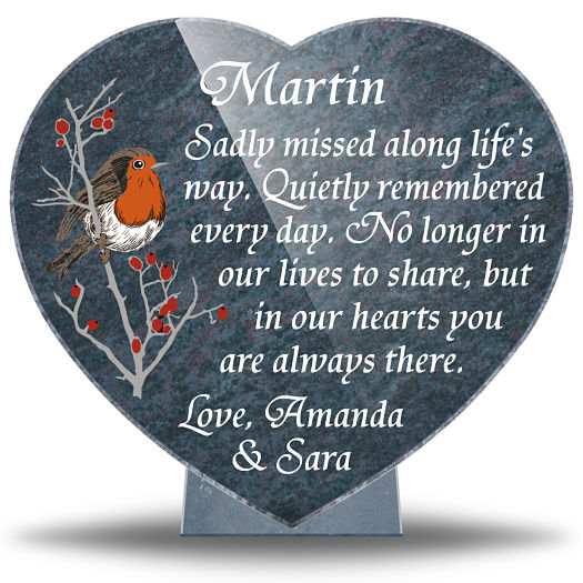 Memorial Poems and Verses for Loved ones on Robin Bird Memorial Plaque