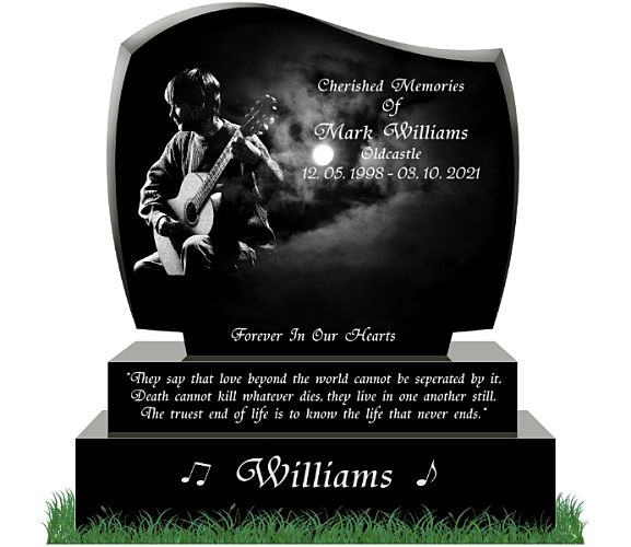 choosing fonts and photos for headstones in Ireland